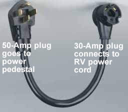50 to 30 amp RV electrical cord adaptor