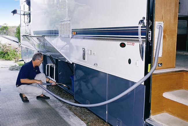rv owners are installing rv central vacuum systems new rvbasics. Black Bedroom Furniture Sets. Home Design Ideas
